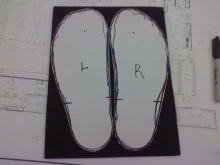 huaraches feet pattern