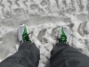 My shoes in the snow
